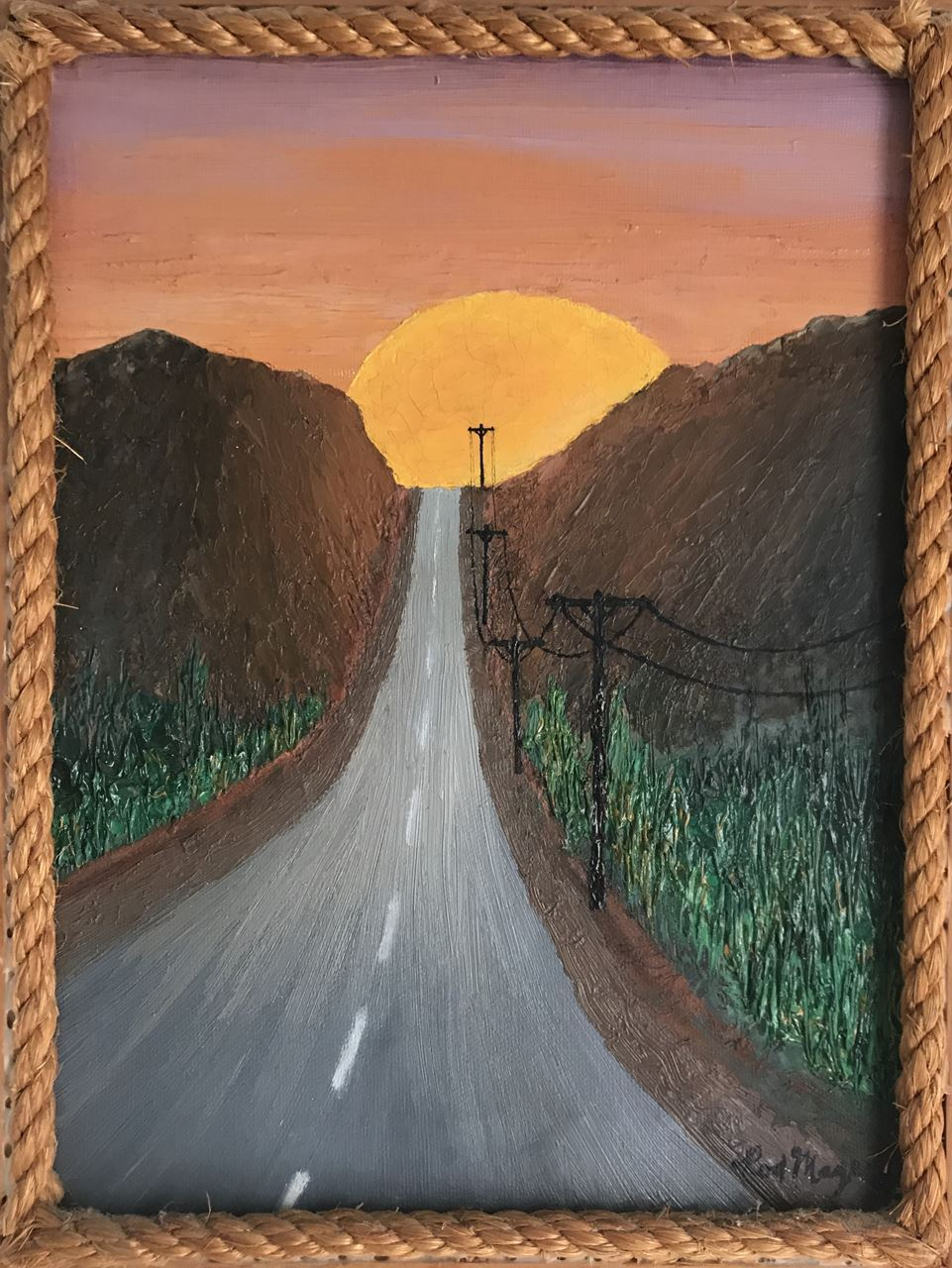 "Figure 1""Road to the Sun"" oil 9x12"""